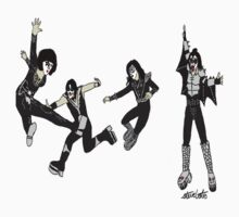"KISS ""Beatles"" Pose. by isteve51"