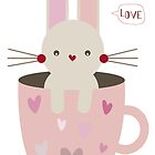Rabbit in Cup by estherilustra