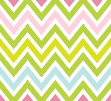 Chevrons, Zigzag Colorful Background by roughcollie5