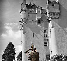 Lone Piper at Crathes Castle by tmtht