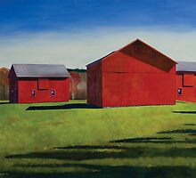 Chagrin Valley Barns by Richard  Carissimi