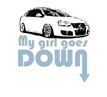 My Girl Goes Down PhoneCase by VolkWear