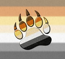 Bear Paw Symbol - Bear Pride Flag by LiveLoudGraphic