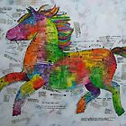 The Rainbow Delux Prancing Pony Pattern by Bonnie coad