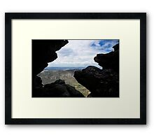 Heavens window Framed Print