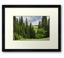Cloudy mountains Framed Print