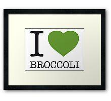 I ♥ BROCCOLI Framed Print