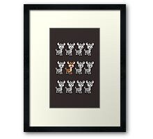 LOOK! Is Rudolph! v2 Framed Print