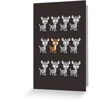 LOOK! Is Rudolph! v2 Greeting Card