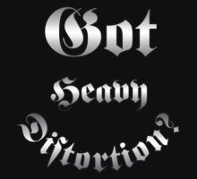 Got Heavy Distortion Silver decoration Clothing & Stickers by goodmusic