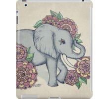 Little Elephant in soft vintage pastels iPad Case/Skin