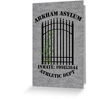 Arkham Asylum, Inmate: Poison Ivy  Greeting Card
