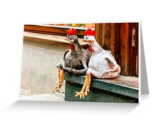 Old Town Chickens Greeting Card