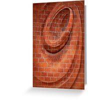 Spiral in Brick Greeting Card
