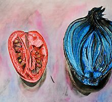 Tomatoe and Onion In Ink by sgrixti