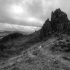 View from the Old man of Storr -Black and White by Guy  Berresford