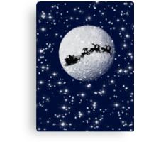 Father Christmas on Christmas Eve Canvas Print