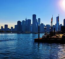 Chicago from Lake Michigan by James R Goddard