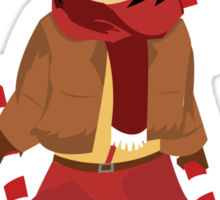 Mikasa chibi christmas  Sticker