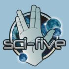 Star Trek Sci-Five T Shirt by toddalan