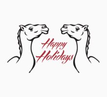 Happy Holiday T-Shirts & Hoodies by mike desolunk