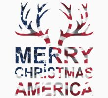 Merry Christmas America T-Shirts & Hoodies by mike desolunk
