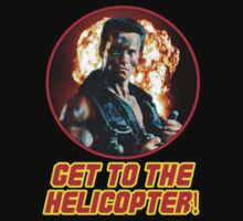 "COMMANDO - ""GET TO THE HELICOPTER."" by Slightly Wrong Quotes"