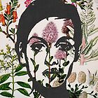 Twiggy Floral 60's Prints by georgiagraceart