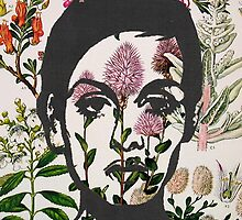 Twiggy Floral 60's Prints by georgiagraceart