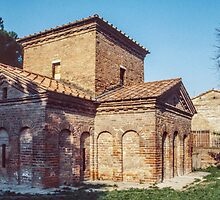 Mid C5 Brick tomb Gallia Placida Ravenna Italy 198404140077  by Fred Mitchell