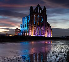 English Heritage : Whitby Abbey Illuminations by SighMulgrave