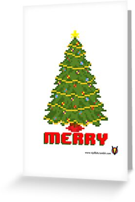 Merry Christmas Tree - V:IPixels Holiday Collection by Victor  Dandridge