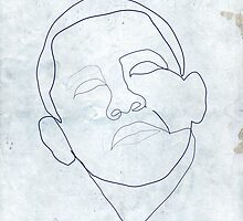 Barack Obama one-line drawing. by borol