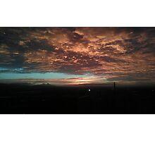 Red sky on an Edinburgh night Photographic Print
