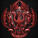 Fire and Blood - Print by TrulyEpic
