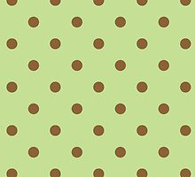 Polka Dots Green Brown by roughcollie5
