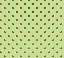 Polka Dots Background Green Brown  by roughcollie5