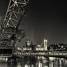 The London Eye and Big Ben. by Ian Hufton