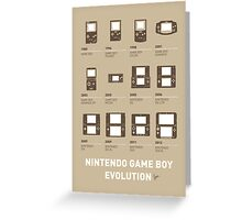 My Evolution Nintendo game boy minimal poster Greeting Card