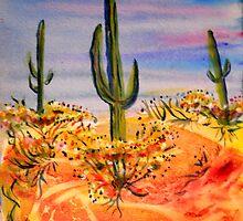 Saguaro Cactue, southwest landscape by M C  Sturman