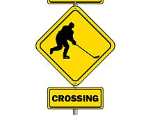 Hockey Crossing Sign by kwg2200