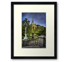 Night Passing the Earth to Day and Epworth Church Framed Print