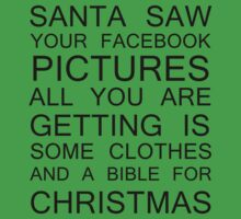 Santa saw your Facebook pictures (black) by artemisd
