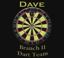*** PERSONALIZED*** Darts tee - Dave by marinasinger