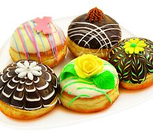 Five beautiful donuts by Nika Lerman