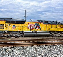 Union Pacific Engine 8823 by Craig  Bellinger Photography