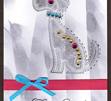 Doggie Thank You Card by Ginger Lovellette