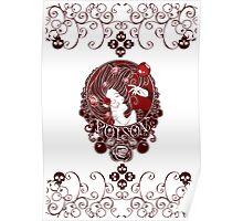 Poison - Blood Rose on White Poster
