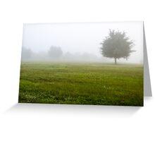 Foggy Field Greeting Card