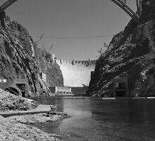 Hoover Dam - B/W by Steve St.Amand